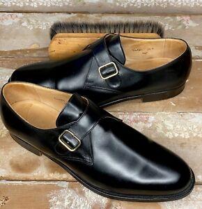 STUNNING CROCKETT & JONES X BROOKS BROTHERS MONK STRAP SZ 12 E / W/ Shoe Bags