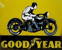 Good Year VINTAGE ENAMEL METAL TIN SIGN WALL PLAQUE