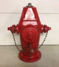 Vintage 1986 Red Fire Hydrant Clow 2500 Oskaloosa IA Redone Yard Art Man Cave