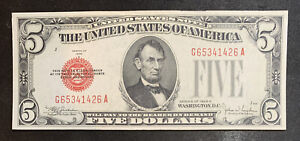 1928 E $5 Legal Tender Note Uncirculated