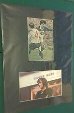 GEORGE BEST NORTHERN IRELAND MAN UNITED SIGNED 16x12 MOUNTED MAGAZINE FOOTBALL