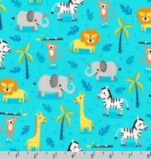Cotton Quilting Fabric #1630 Robert Kaufman Safari Soiree Aqua by the Yard