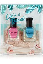 DEBORAH LIPPMANN LIFE'S A BEACH NAIL LACQUER SET NAIL POLISH DUO NEW IN BOX