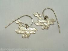 Orecchini pendenti con BIPLANO in Argento 925 - aeroplano d'epoca -