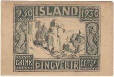 1930 Pingvellir National Park Iceland Founding Postcard