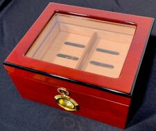 Cigar Humidor Wooden Case Cigar Humidifier With Lock