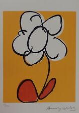Limited Fine POP ART- Flower - Silkscreen Warhol signed & stamped Total Color