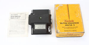 KODAK BANTAM KODACHROME ADAPTER B, USES 828 FILM, BOXED/cks/198468