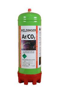 Mischgas Einwegflasche 2 L 20 % Co² 80 % Argon 220 Liter Schweißgas