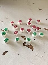 18 Piece Lot Green & Red PEPPERMINT SWIRLS Christmas Polymer Clay Beads