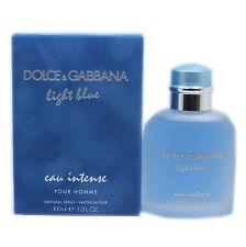 DOLCE & GABBANA LIGHT BLUE POUR HOMME EAU INTENSE NATURAL SPRAY 100ML NIB