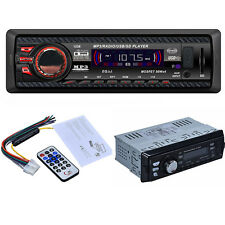 Usb Car Audio Stereo In Dash Fm With Lcd Mp3 Player Sd Input Aux Remote Control