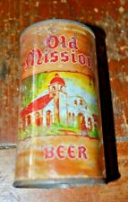 Rare Old Mission 2 Panel Flat Top Beer Can Off Grade