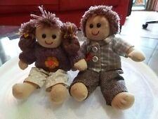 Rarissima coppia Bambola My Doll Peluche Alta19 Cm da collezione Originale
