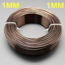 1 mm Aluminio Craft floristería Alambre Fabricación De Joyas Marrón Oscuro Camel 10 M longitudes