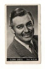 Clark Gable 1947 Kwatta Film Stars Belgium Chocolate Card #85