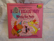 1967 WINNIE THE POOH A Happy Birthday Party SEALED LP,disneyland 3942,eeyore