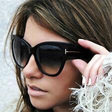 Masculino feminino preto Cat Eye Óculos De Sol Fashion t Carta Óculos com tons Retro