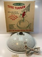 ~Parts~Vintage HOLLY TIME Artificial Tree Turner Stand Model B-30 w/Original Box