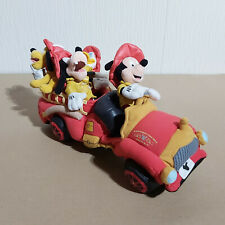 Walt Disney World Mickey Donald Goofy Pluto Main St Fire Dept Plush VERY RARE
