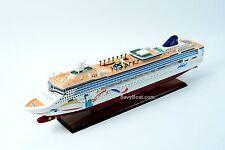 "Norwegian Dawn Liberty Statue Artwork Handmade Wooden Cruise Ship Model 40"""