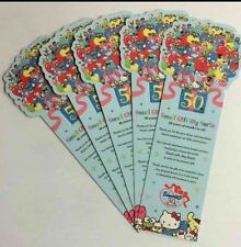 Sanrio Hello Kitty Characters 50th 5pc Plastic Bookmarks