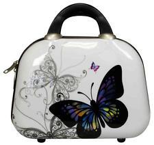 Carbon Hartschalen Reise Schmink Koffer Beautycase Kosmetik Bordgepäck Butterfly