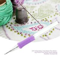 Sewing Embroidery Stitching Pen Punch Needle Threader DIY Guide Craft Tool