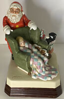 "Norman Rockwell Musical Figurine ""Waiting For Santa"" 7"" Figurine 1984 Vintage"
