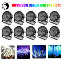 10X PAR Can Light 36LED RGBW DMX Stage Lighting DJ Disco Party Club Show Wedding