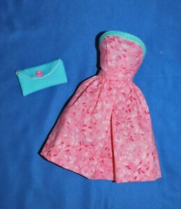OOAK Pink & Aqua Strapless Sundress Fits Vintage, Mod, Repro Barbie, Midge, etc