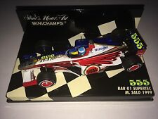 Minichamps F1 1/43 BAR 01 Supertec Mika Salo 555 Lucky Strike tabac Zipper voiture