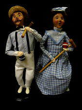 Byers Choice Croquet Man And Woman Christmas Holiday Carolers 1999