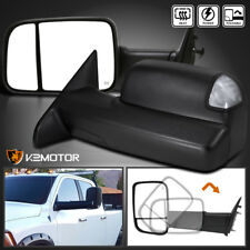 2009-2012 Dodge Ram 1500 POWER+HEATED Flip Up Towing Mirrors w/LED Signal+Puddle