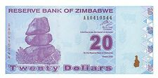 Zimbabwe  $20  2009 Series AA Uncirculated Banknote , G8