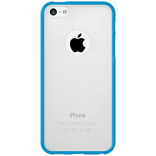 For iPhone 5C SlimGrip Hybrid TPU Bumper Case Clear Back Cover - Cloudy/ Blue