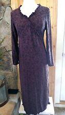 J Jill Maxi Dress S Long Sleeve Purple Floral