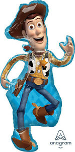 """TOY STORY 4 BALLOON 44"""" (111cm) WOODY FULL BODY TOY STORY 4 ANAGRAM FOIL BALLOON"""
