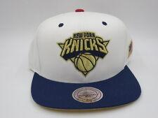 New York Knicks White Wool Mitchell & Ness NBA Retro Throwback Snapback Hat Cap