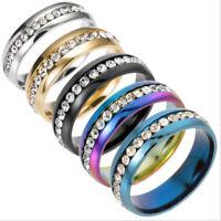 Sz5-13 Men/Women CZ Couple Stainless Steel Wedding Ring Titanium Engagement Ring