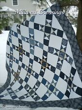 MIDWEST CROSSING QUILT KIT -  Includes Pattern Plus Indigo Crossing Moda Fabric