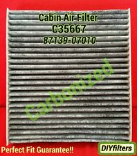C35667 CARBONIZED AC CABIN AIR FILTER Avalon Camry Tundra CT200h 87139-07010