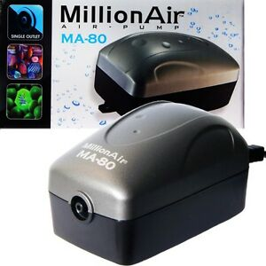 Million Air 80 Aquarium Air Pump by Via Aqua