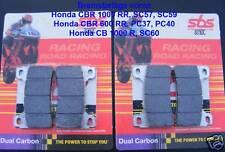 2x SBS 809 Dc Racing Brake Pads Honda CBR 1000 RR SC57, SC59, CBR 600 RR, PC40
