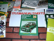 HAYNES MANUAL FOR RENAULT CLIO. 1991 TO 1998. H TO R REGISTRATION.