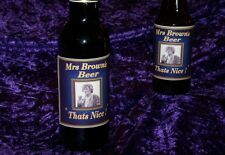 MRS BROWNS BOYS BEER LABELS  TV series episode gift choice BLUE LARGE X2