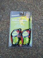 Kawasaki Sports Walkie Talkies w/ Belt Clip, Morse Code 200 ft. Range 4 Kids NEW
