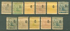 SERBIA 1911 - NEWSPAPER STAMPS Trojicki Sabor MI. 107/117 MH SET