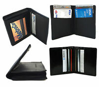Men's Genuine Leather Bifold Wallet Thin ID Credit Card Bill Case Front Pocket