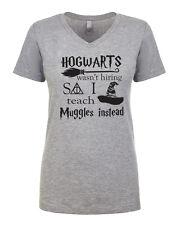 Hogwarts wasn't hiring I teach Muggles Harry Potter Women's V-Neck T-shirt